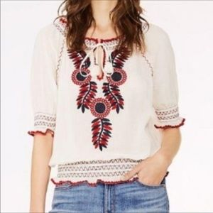 Tory Burch Mari embroidered top XS
